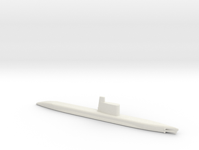 1/700 Scale USSR Quebec Submarine Waterline in White Natural Versatile Plastic