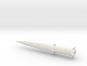 1/144 Scale MGM34 Pershing 1 Missile in White Natural Versatile Plastic