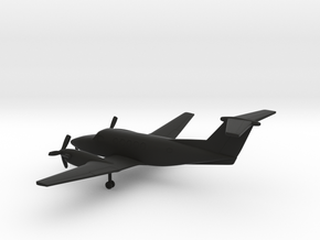 Beechcraft Super King Air 200 in Black Natural Versatile Plastic: 1:200