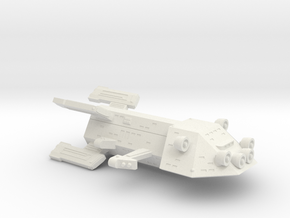 3788 Scale Kzinti New Heavy Scout Cruiser (NSC) SR in White Natural Versatile Plastic