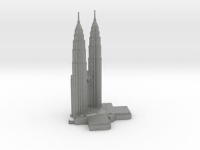 Petronas Towers - Kuala Lumpur (6 inch) in Gray PA12