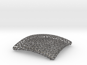 Voronoi Bowl 14 cm in Polished Nickel Steel