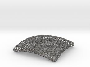 Voronoi Bowl 14 cm in Polished Nickel Steel