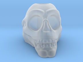 Stylized Skull 3D Pen Holder in Smooth Fine Detail Plastic: Small