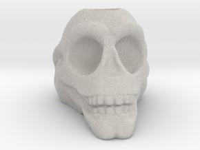Stylized Skull 3D Pen Holder in Natural Full Color Sandstone: Small