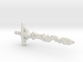 Corrupt Laser Sword (5mm and 3mm grips) in White Natural Versatile Plastic: Medium