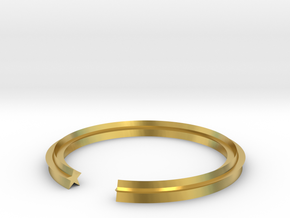 Star 14.05mm in Polished Brass
