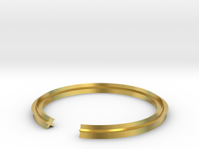 Star 15.70mm in Polished Brass