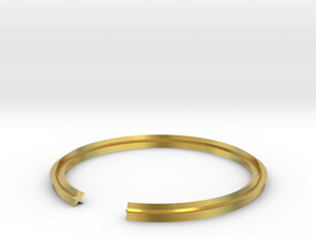 Star 19.41mm in Polished Brass