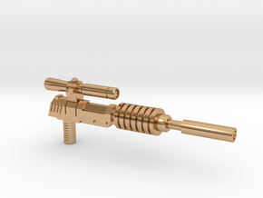 Megatron Pistol, Silenced (3mm & 5mm grips) in Polished Bronze: Small