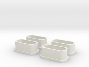Kappe Deans  (4) in White Natural Versatile Plastic