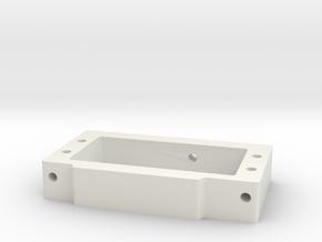 WT01/WR01 Servo Mount in White Premium Versatile Plastic