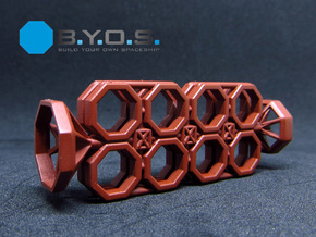 BYOS PART FRAME SKELETON NANO CONTAINER OCTO in Smooth Fine Detail Plastic