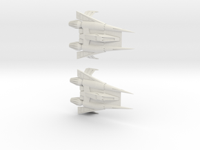 Thunder Fighter  in White Natural Versatile Plastic