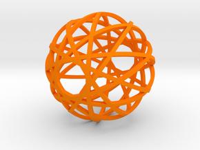 Fusion Ornament in Orange Processed Versatile Plastic