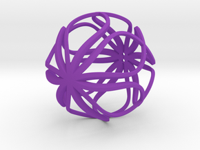 Loopy Ornament in Purple Processed Versatile Plastic