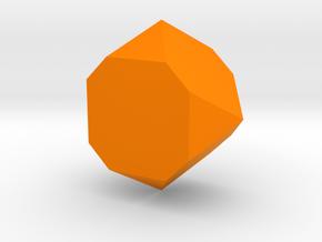 Faceted Box Planter in Orange Processed Versatile Plastic