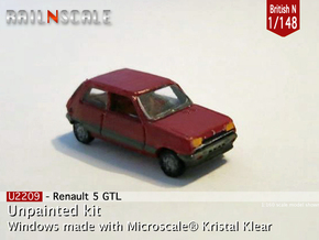 Renault 5 GTL (British N 1:148) in Smooth Fine Detail Plastic