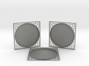 3 Semiwire Coasters in Gray PA12