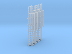 1:100 Cage Ladder 61mm Platform in Smooth Fine Detail Plastic