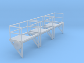 1:100 Ladder Platform Left 3pc in Smooth Fine Detail Plastic