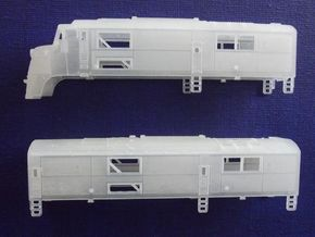N Scale CNJ Baby-faced Baldwin A and B unit in Frosted Ultra Detail