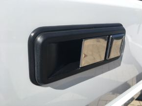 Lancia Delta 1 Door Handle in White Processed Versatile Plastic