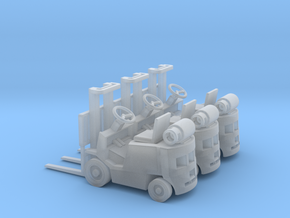 Early LPG Forklift (HO - 1:87) 3X in Smooth Fine Detail Plastic