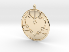 Biology Symbol in 14k Gold Plated Brass