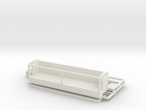 Bude 12 m dreiseitig für 1:220 (z scale) in White Natural Versatile Plastic