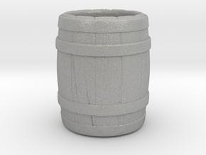 "A glass of ""barrel"" in Aluminum"