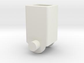Electr_Motor_Holder_Collumn in White Natural Versatile Plastic