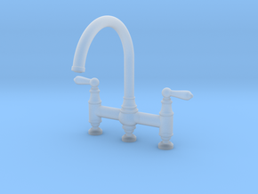 Triple Deco Bridge Faucet  in Smooth Fine Detail Plastic