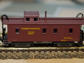 T58p x8 N offset passenger truck, Caboose, Overton in Smooth Fine Detail Plastic