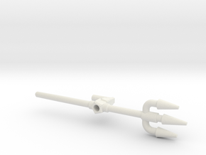 Octopunch Trident, 5mm in White Natural Versatile Plastic