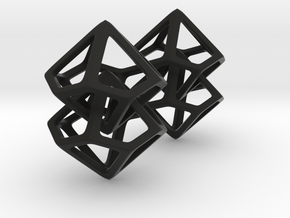 Hanging Decahedron in Black Natural Versatile Plastic