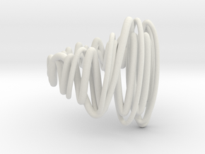 Tornado Dorito Rings Large in White Natural Versatile Plastic