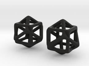 Counter Cube in Black Natural Versatile Plastic