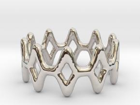 Ring 11 in Rhodium Plated Brass