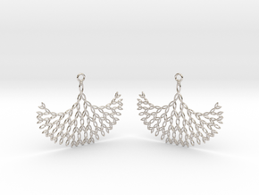 GT Earrings in Rhodium Plated Brass