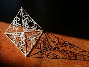 8 cm Tetrahedron in White Strong & Flexible