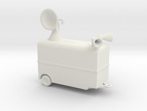 1/200 Scale Radar Trailer in White Natural Versatile Plastic