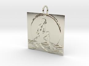 Mermaid's Moon Pendant in 14k White Gold: Medium