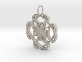 Celtic Lucky Clover Pendant in Natural Sandstone: Large