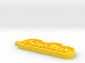 Sasha Name Tag in Yellow Processed Versatile Plastic