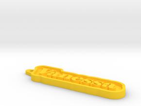 Vanessa Name Tag in Yellow Processed Versatile Plastic