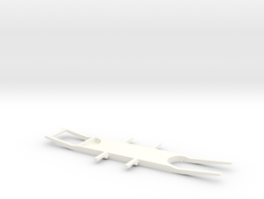 Chassis 2CV (3 inches) in White Processed Versatile Plastic