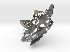 Butterfly Bowl 1 - d=9cm in Fine Detail Polished Silver