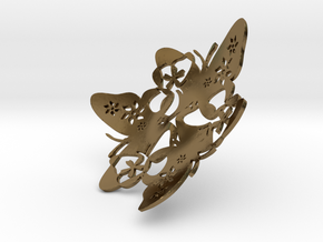 Butterfly Bowl 1 - d=9cm in Polished Bronze