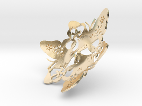 Butterfly Bowl 1 - d=9cm in 14k Gold Plated Brass